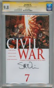 Civil War #7 First Print CGC 9.8 Signature Series Signed Steve McNiven Marvel comic book Mark Millar